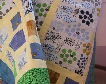 Kids patchwork lap blanket