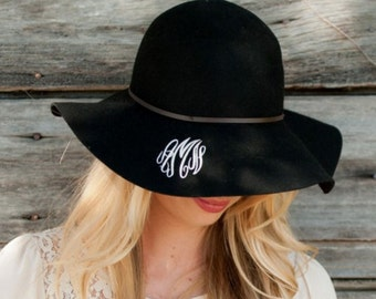 Floppy Wool Hat, Gifts for her, Floppy Hat, Monogrammed Floppy Hat, Personalized Gift, Custom floppy hat, wool floppy hat, monogrammed hat,