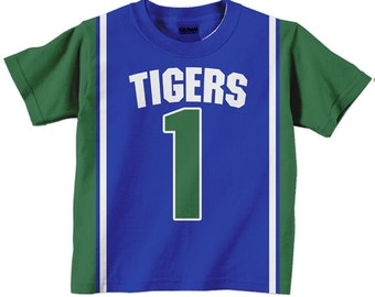 Personalized Basketball Jersey Shirt -  Boy's Sport Team T-Shirt  -Custom Any Color - Any Name