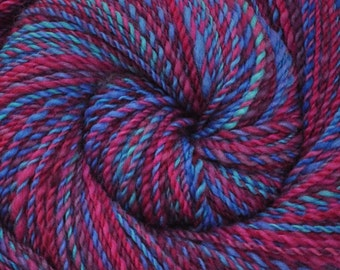 Handspun yarn - Hand painted Blue Faced Leicester (BFL) wool, DK weight, 265 yards - Jousting Pennants