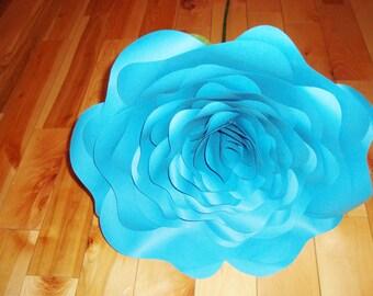 Large Paper Rose Stemmed - Giant Paper Flowers | Wedding Bouquet | Alternative Bouquet | Baby Nursery | Bridal Bouquet | Wedding Decor