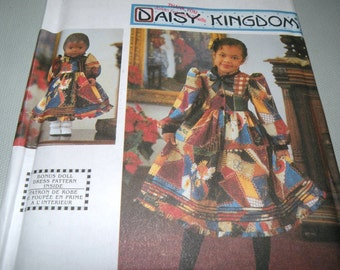 DAISY KINGDOM Girls dress and Doll dress pattern SIMPLICITY 9429 Size 7 to 14 Uncut