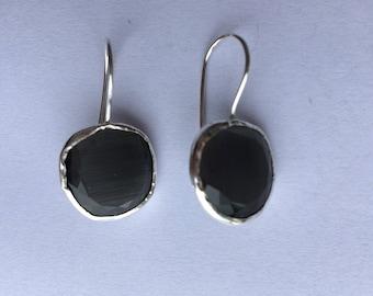GreY Stone Earrings.