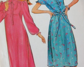 80s Butterick 4280 - Belle France Dress - Vintage Sewing Pattern - Puff Sleeve - B 34