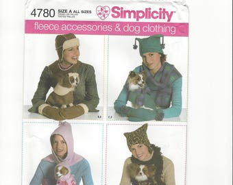 SIMPLICITY  4780 Fleece Accessories and Dog Clothing