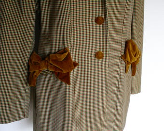 Vintage MOSCHINO cheap and chic bow jacket 90s