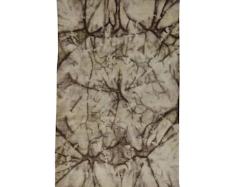 5'1''x8' Hand Knotted Taupe Tie Dye Overdyed Modern Oriental Wool Rug