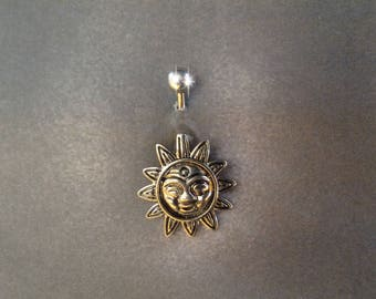 belly button ring Smiling Sun