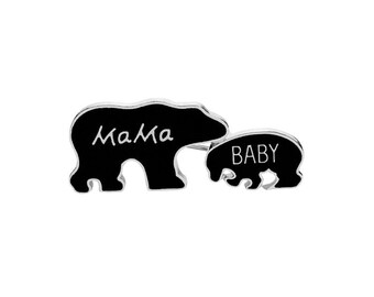 Brooch Pin's mama and baby bear