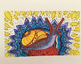 Handmade Snail Card