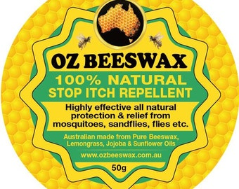 Oz Beeswax 100% Natural Stop Itch Repellent 50g