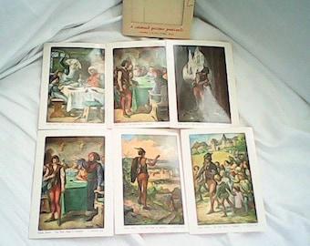 PIED PIPER STORY Postcards ( 6 )  Germany Original Packet  Cramers Kunstanstalt K G Dortmund