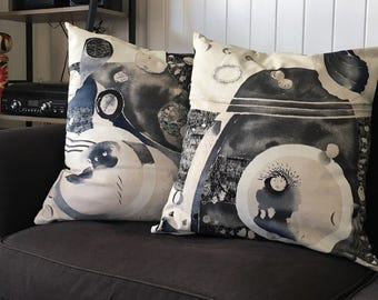 Cushions made from Nani Iro's 'A Beautiful Life' fabric
