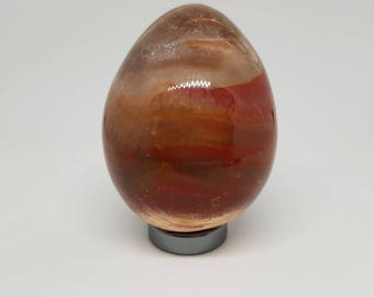 Blood stone carved egg.