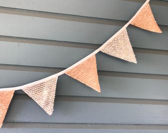 Pink and Silver Sequined bunting
