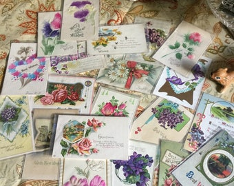 Lot of Victorian Postcards-Very Good Condition-Paper/Craft/Frame