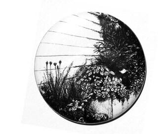 Flower illustration Pocket Mirror Design 4