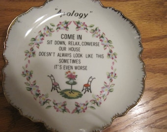 Vintage Apology Plate 1960,s