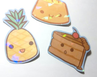 Pineapple Cake Holographic Stickers