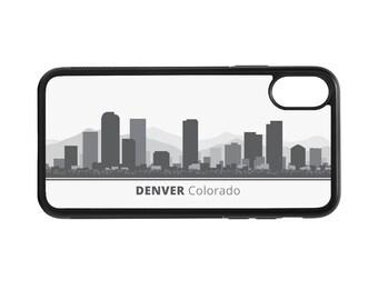 Denver Colorado Skyline Personalized Phone Case - iPhone X 8 7 6 Plus, 5 5c SE, Galaxy S8 S8 Plus S7 S6 Edge S5, rubber cover, CO