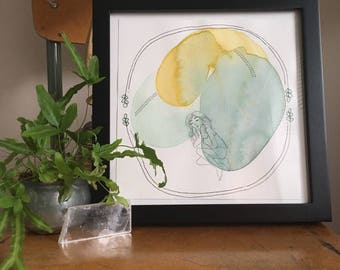 Tiny Rester / Illustration / Watercolour / Drawing / Art / Print