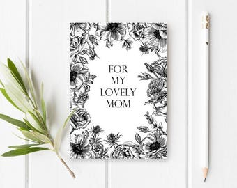 Floral Mothers Day Card, Floral Card for Mom, Printable Mothers Day Card, Printable Card for Mom, Mothers Day Cards, Floral Cards
