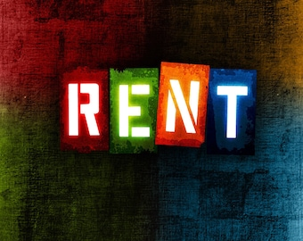 Rent Musical Theatre Poster (b) - Choose your size - A4/A3/A2