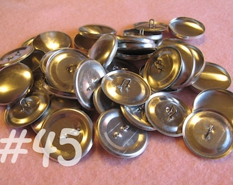 100 Covered Buttons - 1 1/8 inches - Size 45 wire backs/loop backs covered buttons notion supplies diy refill