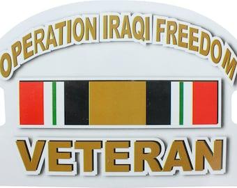 """Operation Iraqi Freedom Veteran Sticker 6.25"""" x 4.75"""""""