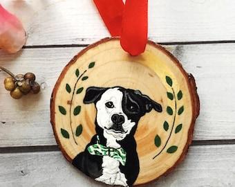 Pet Ornament- Pet Memorial Ornament- Dog Ornament- Cat Ornament- Personalized Pet Ornament- Wood Ornament- Holiday Ornament- Pet Loss Gift