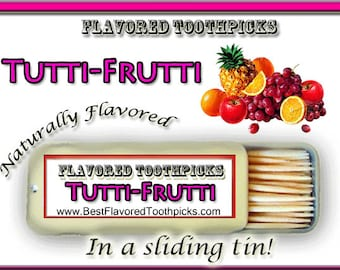 Tutti-Frutti Flavored Toothpicks - 70+ Flavors! Candy, Sugar Free, Thank You Gift, Unique Thank You Gift, Wedding, Baby Shower, Teacher