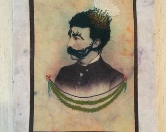 Unknown Man Original Embroidery