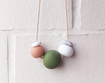 Fern, Handmade Polymer Clay Necklace