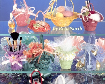 Bitty Baskets  (crochet) by Reta North