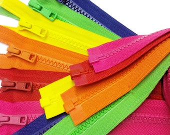 Summer-Spring  Vislon Jacket Zipper (Assorted  6 Colors 516, 820, 523, 504, 536, 029 )  YKK #5 Molded Plastic - Separating~Pick your length