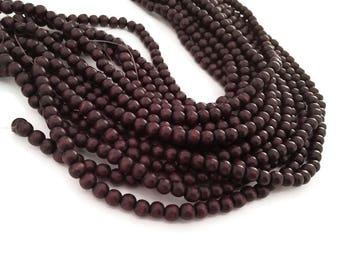 Perles de bois rondes brun chocolat 6mm ou 10mm