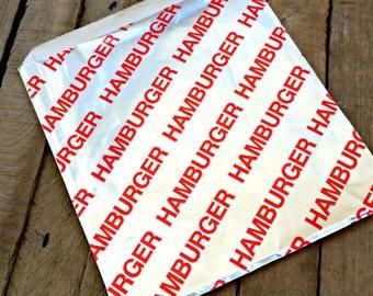25 PERSONALIZED Foil Hamburger Bags