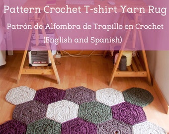 Pattern in PDF of Trapillo carpet in Crochet. English and Spanish