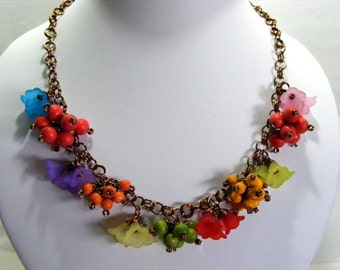 Autumnal/Fall Flowers and Berries Jewellery Set