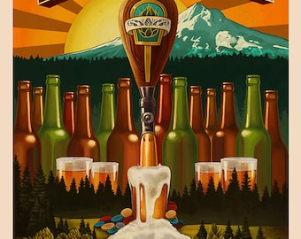 Beervana (Art Prints available in multiple sizes)