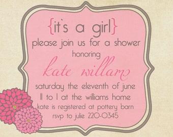Baby Shower Invitation -- Sweet Mums