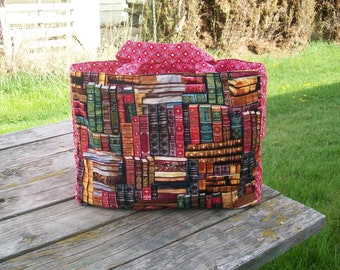 Library of Books Tote Bag Reusable Grocery Bag Shopping Bag Ready to Ship Book Lover