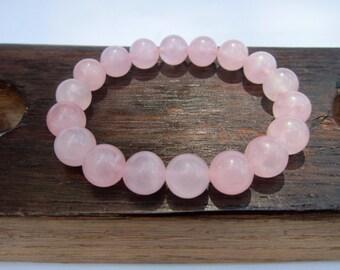 Rose Quartz Bracelet Energy Charm Bracelet Heart Chakra Rose Quartz Bracelet Love Rose Quartz Bracelet Yoga Rose Quartz Pink Quartz Bracelet