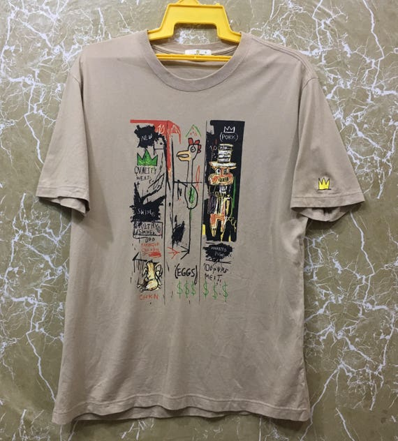 Jean Michel Basquiat pop art punk T-shirt M size Yellow colour 2L8c1yTV5f