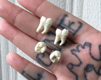 Human Tooth *Replica* Earrings