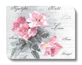 Floral napkin for decoupage, mixed media art, scrapbooking, paper arts and crafts x 1. Floral amore.  No. 1004.