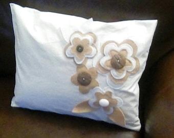 Felt Floral Pillow