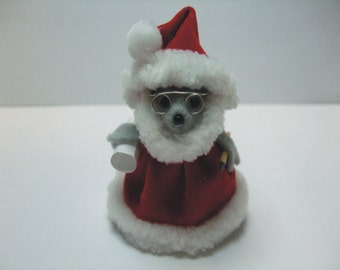 Free Shipping ) Santa Claus a Christmas Mouse Ornament  Great for animal lover and collector By Terrys Country Shop ( 149 )