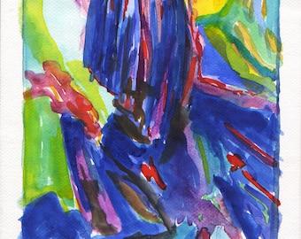 original modern watercolor painting art wall art abstract painting artwork