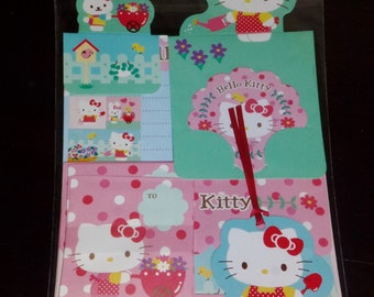 Vintage Sanrio Hello Kitty Full Sized Letter Set with Mini Message Set and Bookmark